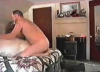 White animal fucked hard by fat guy
