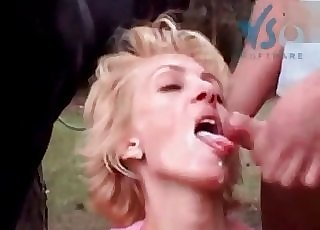 Fucking my sexy wifey in front naked horse
